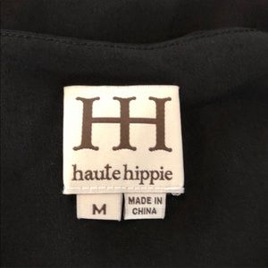 Haute Hippie Tops - Haute Hippie Chiffon Halter Top